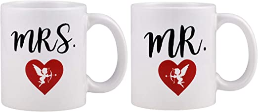 Mr /& Mrs SetPair of MugsCouples GiftValentine Gift