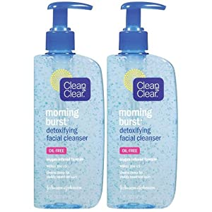 Clean & Clear Morning Burst Detoxifying Face Cleanser, 8 oz, 2 pk