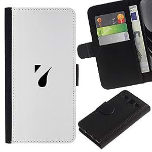 LASTONE PHONE CASE / Lujo Billetera de Cuero Caso del tirón Titular de la tarjeta Flip Carcasa Funda para Samsung Galaxy S3 III I9300 / a drop