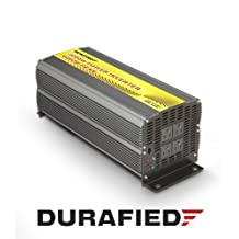 3000W High Efficiency POWER INVERTER (6000 Watt Peak) 12V DC to 120V AC for Car, Boat, RV, Solar Power Supply w/Heavy Duty Cables