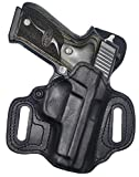 High Noon Holsters Slide Guard cowhide leather holster, black, right hand for CZ P-10 C (Compact)