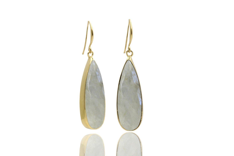 14k gold moonstone earrings, rainbow moonstone, gold earrings, dangle earrings, gift earrings, custom earrings, gemstone earrings