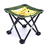 Small Portable Camping, Gardening or Fishing Stool, Strap Webbing,10.5 inches tall, folding camp chair for backpacking - hiking - events - travel - boating - sporting - lightweight sturdy webbing seat