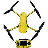 Beyondsky Mavic Skin Sticker Carbon Fiber Sticker Body Skin Waterproof Fuselage Wrap for DJI Mavic Pro Drone (Gold)