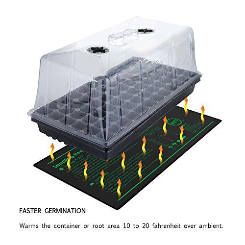 Growneer 10'' x 20'' Waterproof Seedling Heat Mat 7.5'' Dome Germination Station Combo Kit by GROWNEER (Image #4)