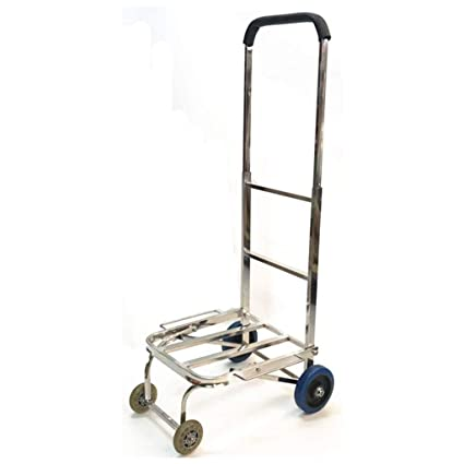 ea808e0fdfe4 Amazon.com: ALUS- Stainless Steel Trolley Car 4 Wheel Mute Luggage ...