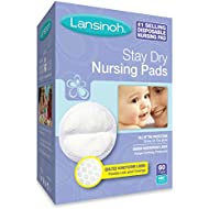 Lansinoh Stay Dry Disposable Nursing Pads, 60 Count...