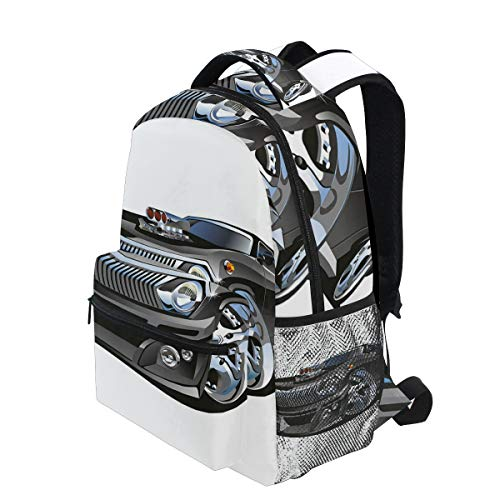 689b05ac9cd8 KVMV Retro Hot Rod Classic Muscle Car Giant Wheel Hobby Passion Automobile  Lightweight School Backpack Students College Bag 1st Grade School Bags