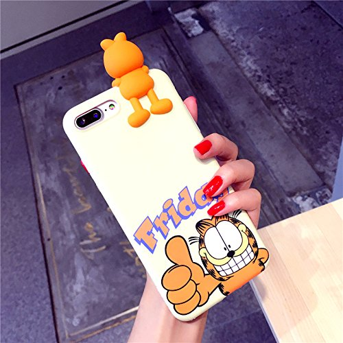 Garfield Case for iPhone 7+ iPhone 7Plus Large Size 5.5