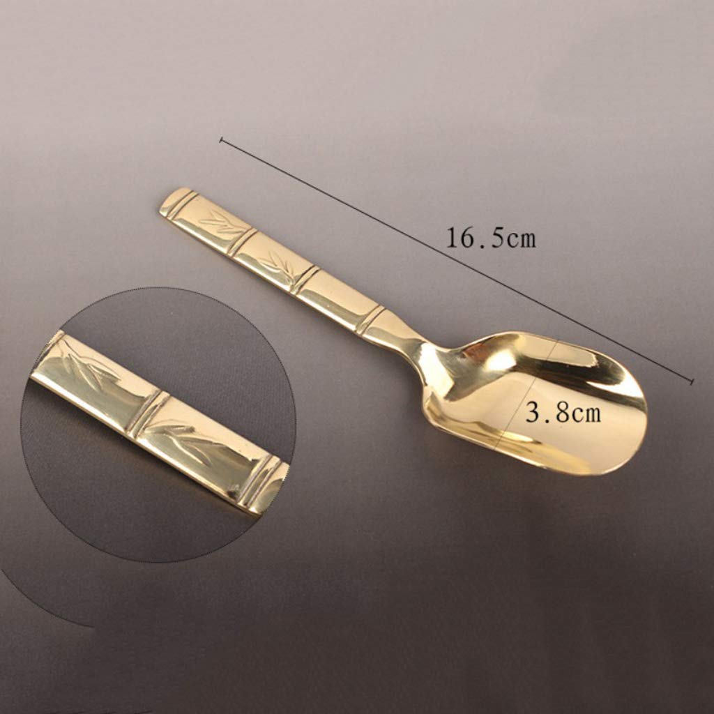 Flameer 6 Pieces Copper Material Chinese Cha Dao Tea Utensils Tools Set Home Decor by Flameer (Image #3)