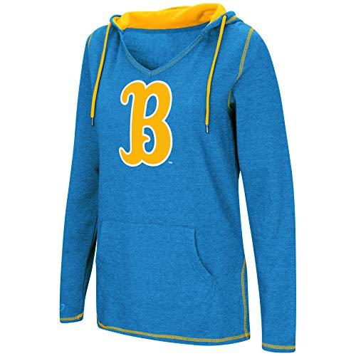 Fleece Ncaa Pullover Sweatshirt - Colosseum Women's NCAA-Scream It!- Dual Blend-Fleece V-Neck Hoodie Pullover Sweatshirt-UCLA Bruins-UCLA Blue-Medium
