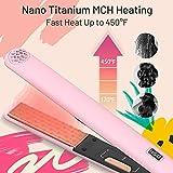 TYMO Hair Straightener Iron, 2 in 1 Straightening