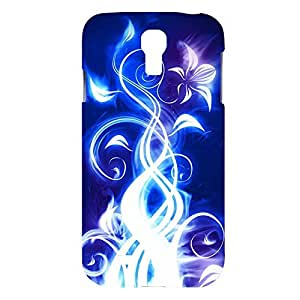 Electric Blue Snap on Plastic Case Cover Compatible with Samsung Galaxy S4 GS4