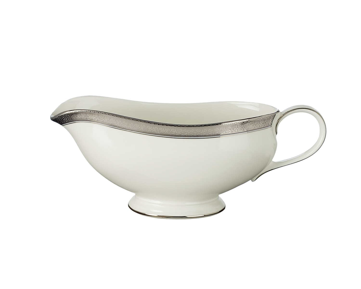 Waterford China New Grange Platinum Gravy Boat