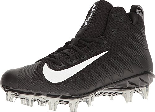 Nike Men's Alpha Menace Pro Mid Football Cleat Black/White Size 12.5 M US