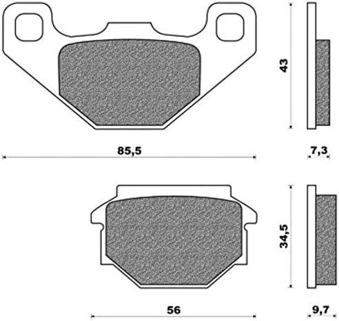 77281965 set coppia pastiglie tuareg 600 wind one by Camamoto cod pasticche freno adatte sia per anteriore che posteriore in base al modello compatibile con pegaso 125 vivacity 100