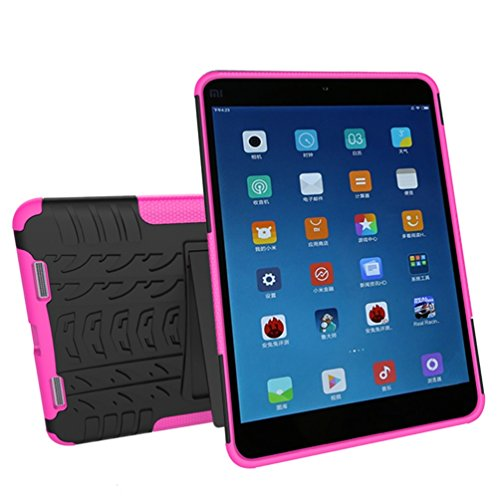 KATUMO® Funda Silicona Xiaomi Mi Pad 2/Xiaomi Mipad 3, Carcasas Bumper Case Cover para Tablet MiPad 2 7,9 Fundas de Protector Caso Caja Cubierta (Anti-Golpes, Ultral Suave)-Oro Roja