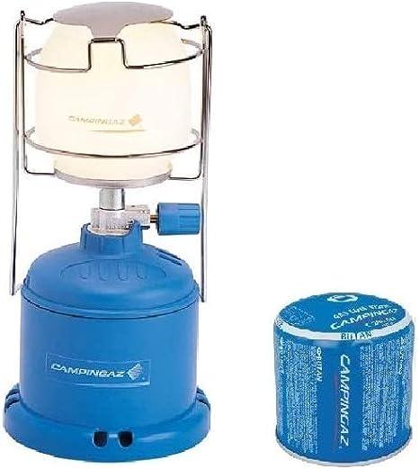 ALTIGASI Campingaz - Farol de gas para camping, 206 L, 80 W + 2 cartuchos de gas C206 GLS