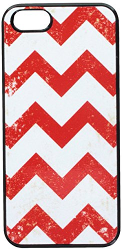 Graphics and More Vintage Chevrons Red Snap-On Hard Protective Case for iPhone 5/5s - Non-Retail Packaging - Black