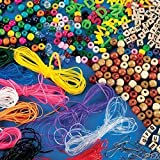 2000+ Pc BEAD Kit/BEADING Supplies/WOOD/Plastic/ALPHABET/Pony BEADS/CORD/LACING/Kids CRAFT KIT/ART SUPPLIES