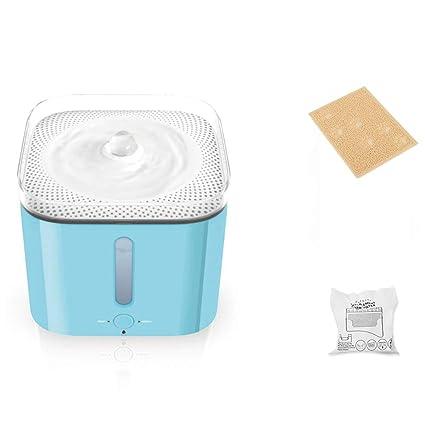 Dispensador de agua para mascotas Fuente para Mascotas 2L, Carga de Ciclo automático Ultra silencioso