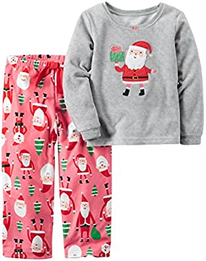 Baby Girls' 2-Piece Fleece Pajama Set