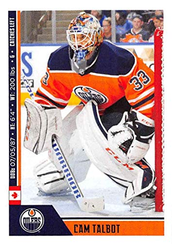 Talbots Collection - 2018-19 Panini NHL Stickers Collection #367 Cam Talbot Edmonton Oilers Official Hockey Sticker (smaller than a regular card)