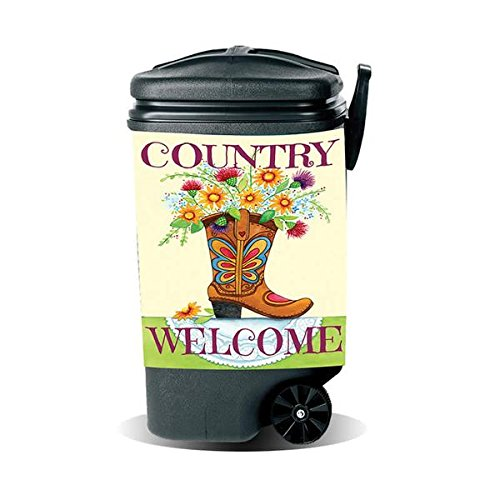 Garbage Pantz GP-BOOT Country Welcome Trash Can Cover, 45 gallon, White/Brown (Country Living Halloween Ideas)