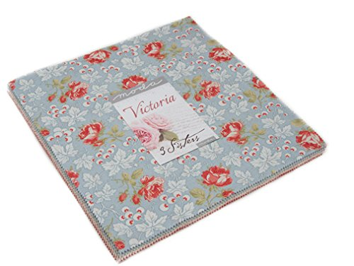 Victoria Layer Cake 42 10-inch Squares by 3 Sisters for Moda Fabrics, 44160LC ()