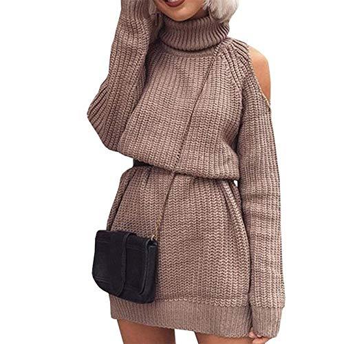 Manches Épaules M Hiver De Kaki Roulé Robes Fcahnrtc Ouvertes Pour Des Automne Tricotés Femmes Avec Les Pulls Col Longues À Mode TwOlkZPXiu