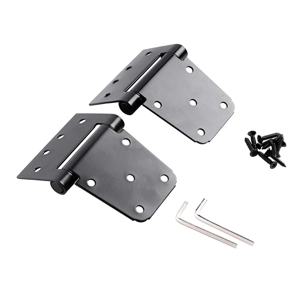 Home Master Hardware 3-1/2'' Heavy Duty Spring T Hinge Gate Hinges Steel Black Finish with Screws 2-Pack by Home Master Hardware (Image #7)