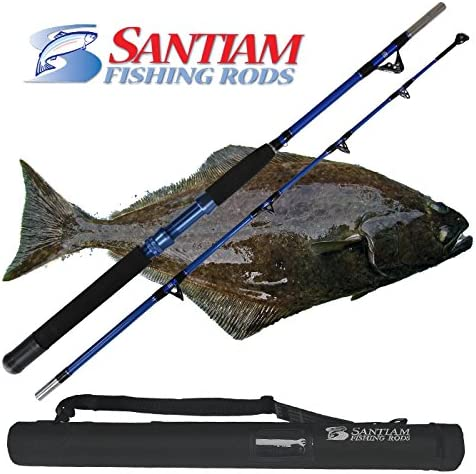 Santiam Fishing Rods Travel Rod 2 Piece 5 6 60-80lb 60-130lb Braid Halibut Tuna Saltwater Rod
