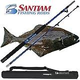 "Santiam Fishing Rods Travel Rod 2 Piece 5'6"" 60-80lb Halibut/Tuna/Saltwater Rod"