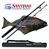 Santiam Fishing Rods Travel Rod 2 Piece 5'6″ 60-80lb Halibut/Tuna/Saltwater Rod Review