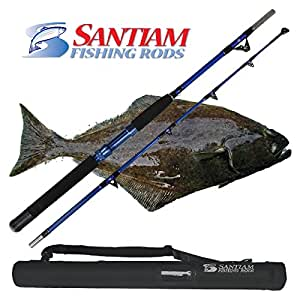 Santiam fishing rods travel rod 2 piece 5 39 6 for Amazon fishing rods