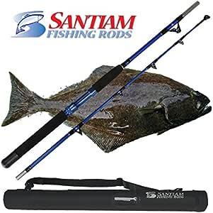 "Santiam Fishing Rods Travel Rod 2 Piece 5'6"" 60-80lb (60-130lb Braid) Halibut/Tuna/Saltwater Rod"