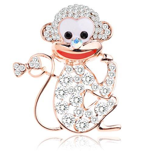 [Tagoo Cute Smilling Monkey Brooch Pin] (Patrick Starfish Costumes)