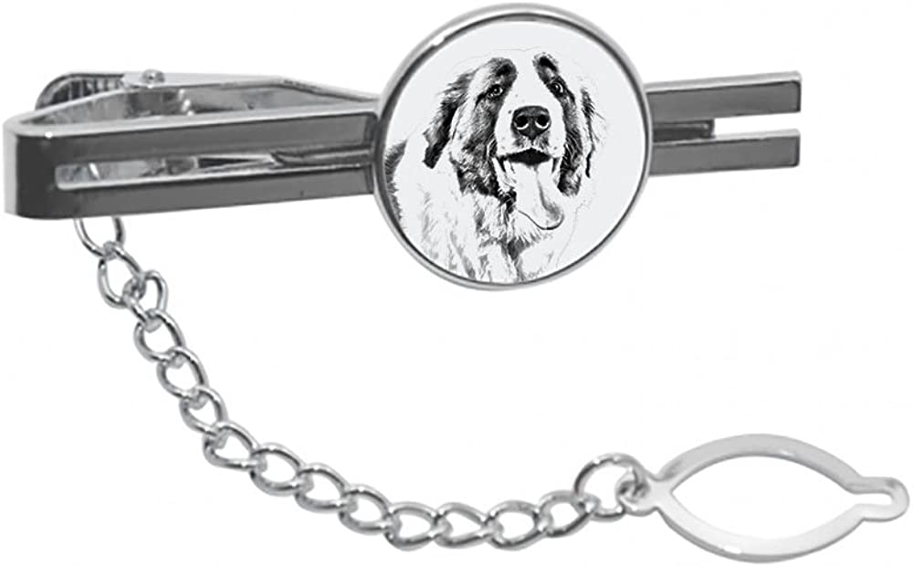 Saint Bernard, tie pin, Clip with an Image of a Dog, Elegant and Casual Style