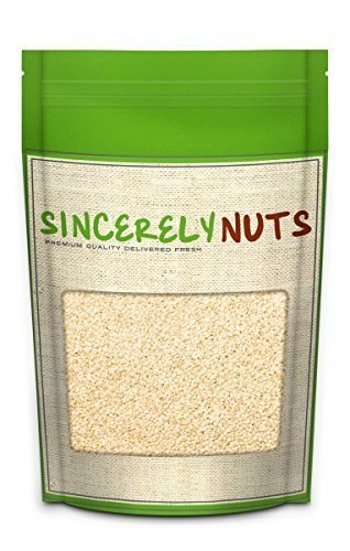 Sincerely Nuts Hulled Sesame Seeds – One (1) Lb. Bag - Delightfully Tasty - Healthy & Crunchy - Kosher Certified Product