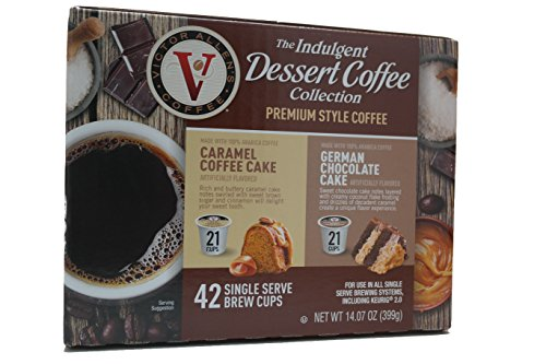 Victor Allens Dessert Coffee K Cups Caramel Cake & German Chocolate Cake (Variety Pack of - Sales Outlet Mall Allen