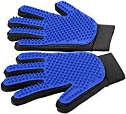 [Upgrade Version] Pet Grooming Glove - Gentle Deshedding Brush Glove - Efficient Pet Hair Remover Mitt - Enhan