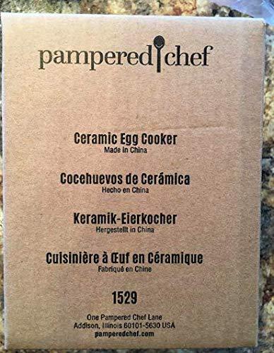 PAMPERED CHEF CERAMIC EGG COOKER #1529