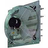 TPI Corporation CE18-DS Direct Drive Exhaust Fan, Shutter Mounted, Single Phase, 18 Diameter, 120 Volt