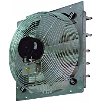 TPI Corporation Direct Drive Exhaust Fan, Shutter Mounted, Single Phase, 120 Volt
