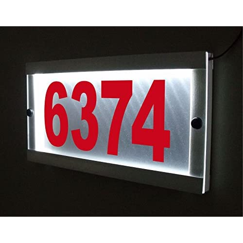 be9d3f53236 durable service CUSTOM LED LIGHTED ADDRESS SIGN ILLUMINATED HOUSE NUMBER  ADDRESS PLAQUE ALUMINUM WATERPROOF DESIGN