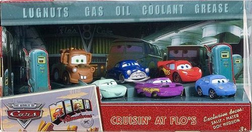 Disney / Pixar CARS Movie Exclusive Mini Adventures Cruisin' At Flo's 6 Piece Gift Pack