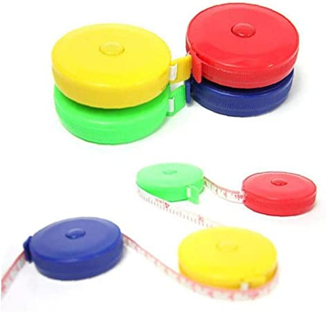 Angoter 150cm 45inch Bandma/ß tragbare einziehbare Lineal Kinder Gr/ö/ße Ruler Centimeter Rolle Fitness Accurate Caliper Zubeh/ör zuf/ällige Farbe