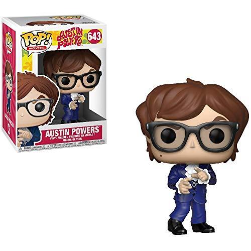 Funko Austin Powers: Austin Powers x POP! Movies Vinyl Figure & 1 PET Plastic Graphical Protector Bundle [#643 / 30773 - B]