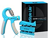 Grip Strengthener Forearm Exerciser Hand Strength Grips with Adjustable Resistance 22-88 Lbs for...