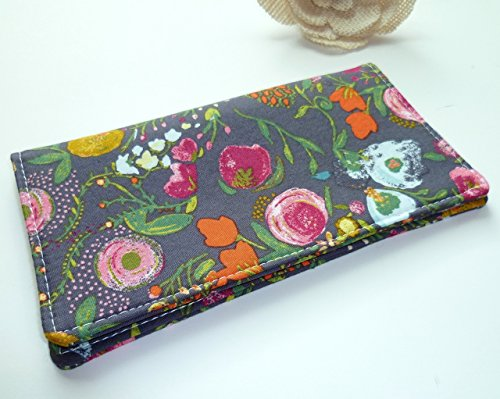 Metallic Checkbook Wallet - Checkbook Cover. Wallet. Receipt Holder - Budquette Nightfall